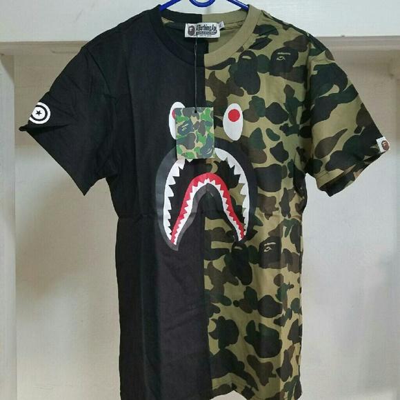 b790585d bape Shirts | Shark Camo Tee Xl | Poshmark